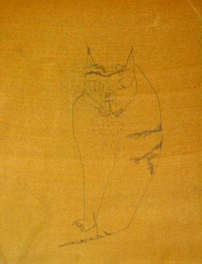 Crayon sur papier huilé, 27x36cm