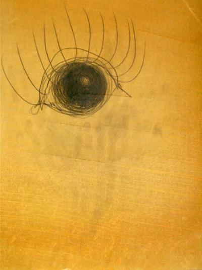Crayon sur papier huilé, 30x38cm