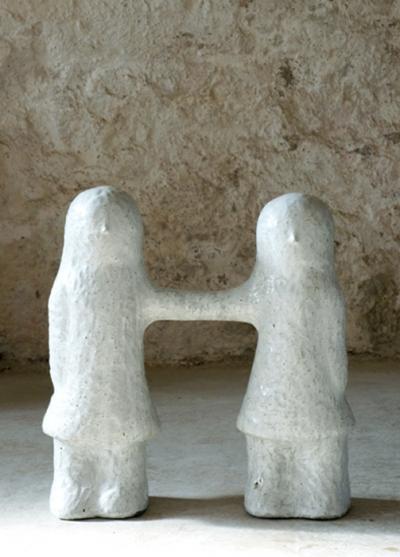 Mesdemoiselles H , 50x17x56cm, grès émaillé
