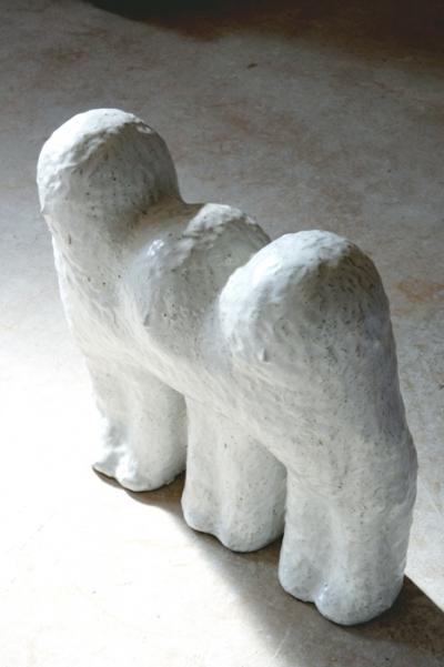 Trois amies, 53×20×60cm, grès  émaillé