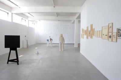 """Vue d'exposition """"dans un autre pays"""" Kunsthaus L6, Freiburg"""