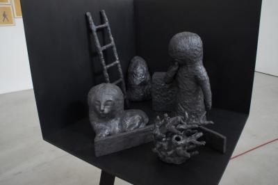 Camera chimera, 7 sculptures, Grès noir émaillé, 1260°c